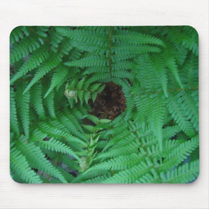 Green Ferns Mousemat