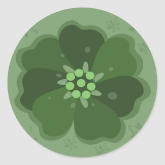 Green Flower Stickers sticker