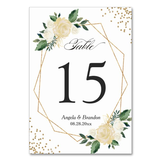 Wedding Table Number Cards Mimoprints