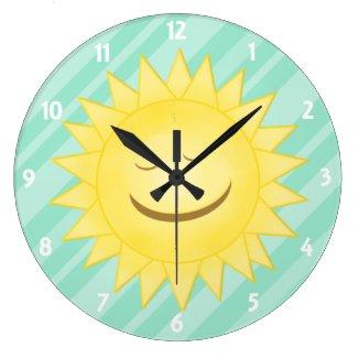 Green: Happy Sunshine Clock