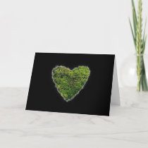 Green Heart Romance Valentine Love cards