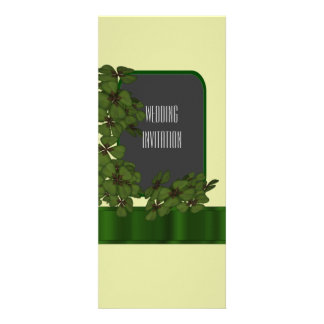 See Invitation Green Irish Shamrock Wedding Card