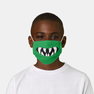 Green Monster Mouth Kids' Cloth Face Mask