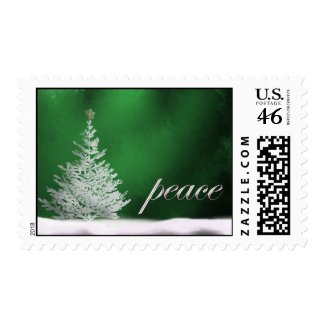 Green peaceful postage stamp