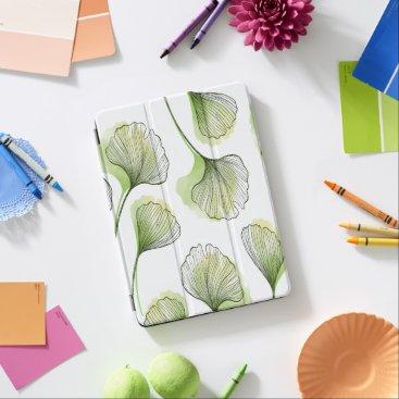 Green petals iPad air cover