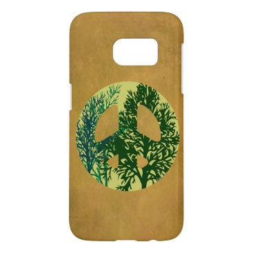 Green Trees Peace Sign Samsung Galaxy S3 Case