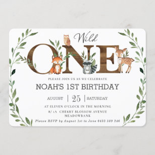 wild one birthday invitations zazzle