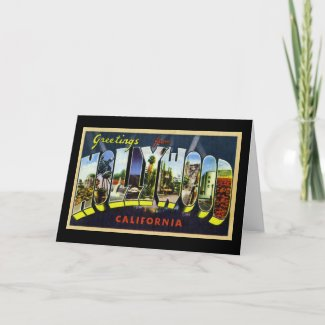 Greetings from Hollywood California card