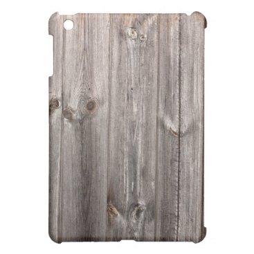 "Grey ""aged wood"" faux texture iPad mini cover"