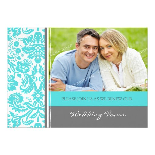 Elegant 50th Anniversary Party Vow Renewal Personalized Invitation