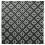 Grey black pattern printed napkin
