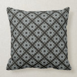 Grey black pattern throw pillow