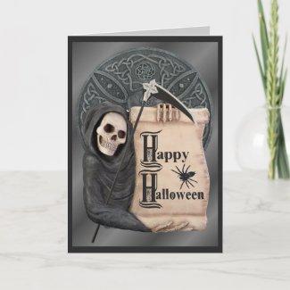 Grim Reaper Halloween Card
