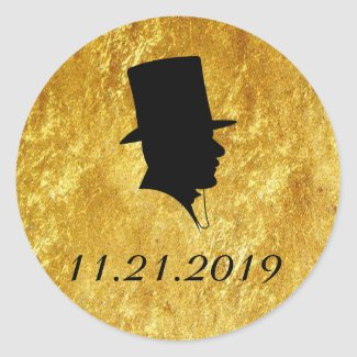 Groomsmen Invitation Gold Seals Classic Round Sticker