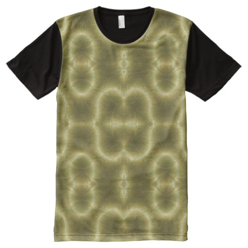 Groovey Green and Gold All-Over Print Shirt