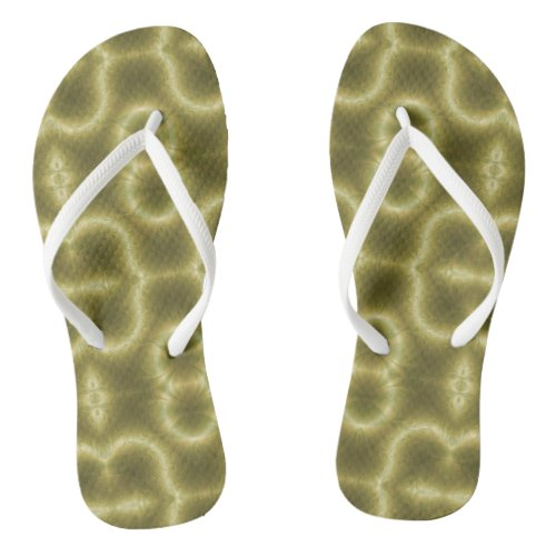 Groovy Green and Gold Flip Flops