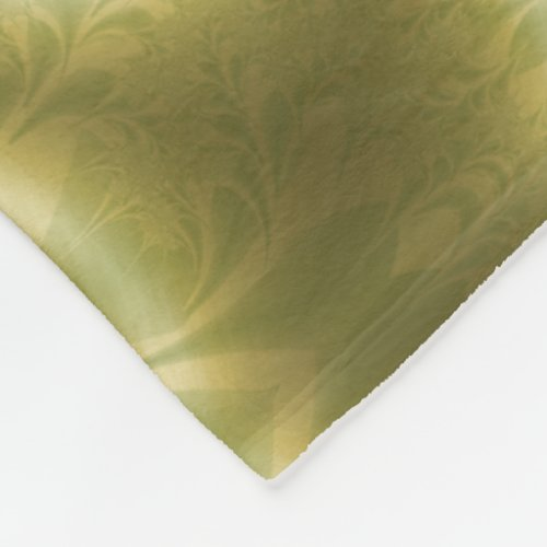 Groovy Green and Gold Paisley Fleece Blanket
