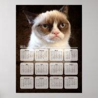 Grumpy cat calendar poster