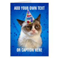 Grumpy Cat Customizeable Happy Birthday Greeting Cards