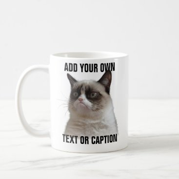 Grumpy Cat Glare - Add your own text Coffee Mug