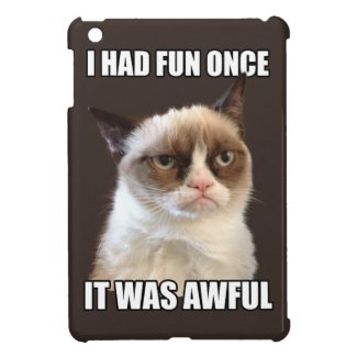 Grumpy Cat - I had fun once Case For The iPad Mini