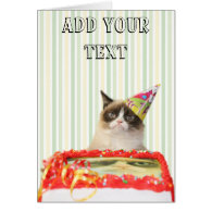 Grumpy Cat Party Greeting Card - Customizable