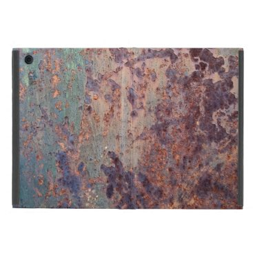Grunge Blue Rusted Metal Pattern Cover For iPad Mini