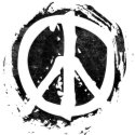Grunge Peace Symbol zazzle_button