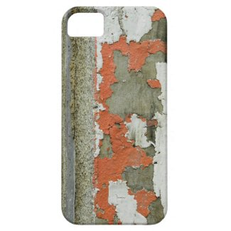 Grunge peeling orange paint on concrete wall iPhone 5/5S case