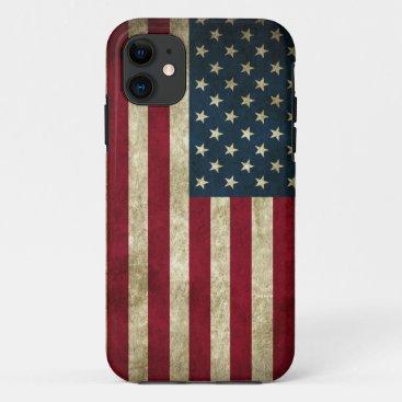 Grunge US Flag iPhone 11 Case
