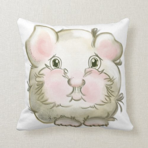 Guinea pig throw pillow