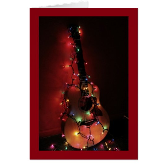 Guitar Players Christmas Card