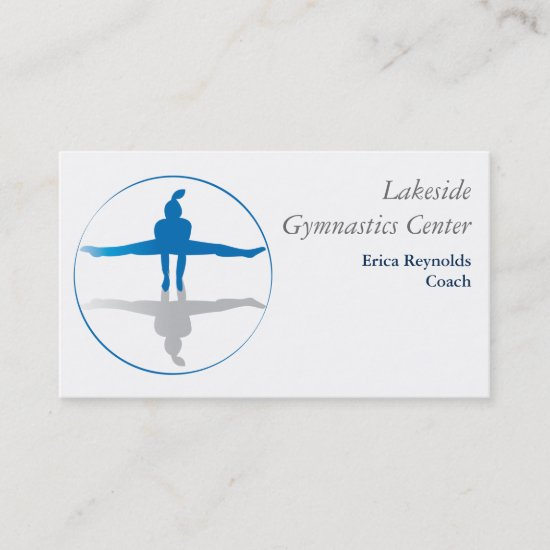 Gymnast Blue Gray Business Card
