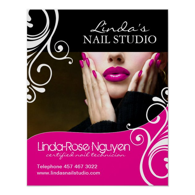 Hair And Nail Salon Poster Zazzle