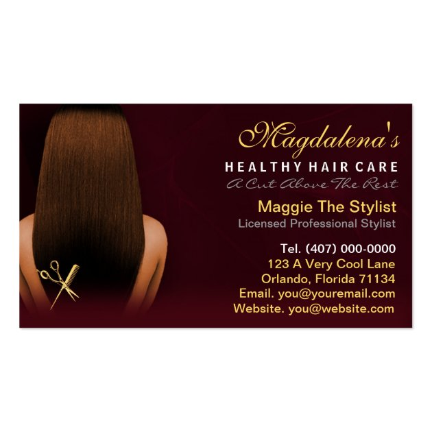 Hair Salon Stylist African American Appointment Business