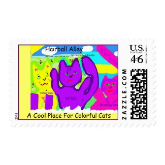HAIRBALL ALLEY Postage Stamps stamp