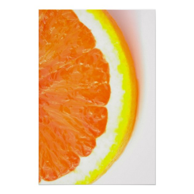 Half Of An Orange Slice Poster