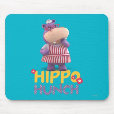 Hallie - Hippo Hunch Mouse Pad