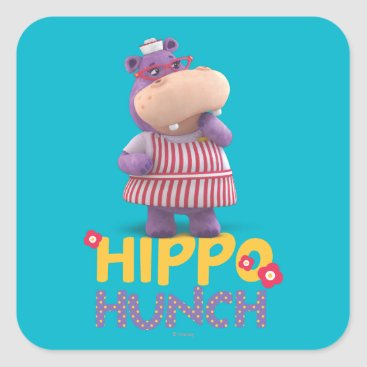 Hallie - Hippo Hunch Square Sticker