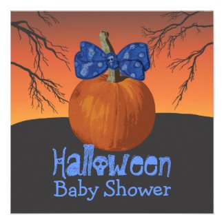 Halloween Baby Shower Invites
