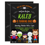 Halloween Birthday Invitation Kids