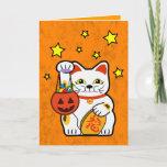 Halloween lucky cat card