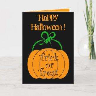 Halloween pumpkin - Card card
