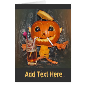 Halloween Pumpkin Partying Card