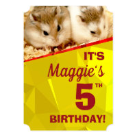 HammyVille - Cute Hamster Birthday Invitation Card