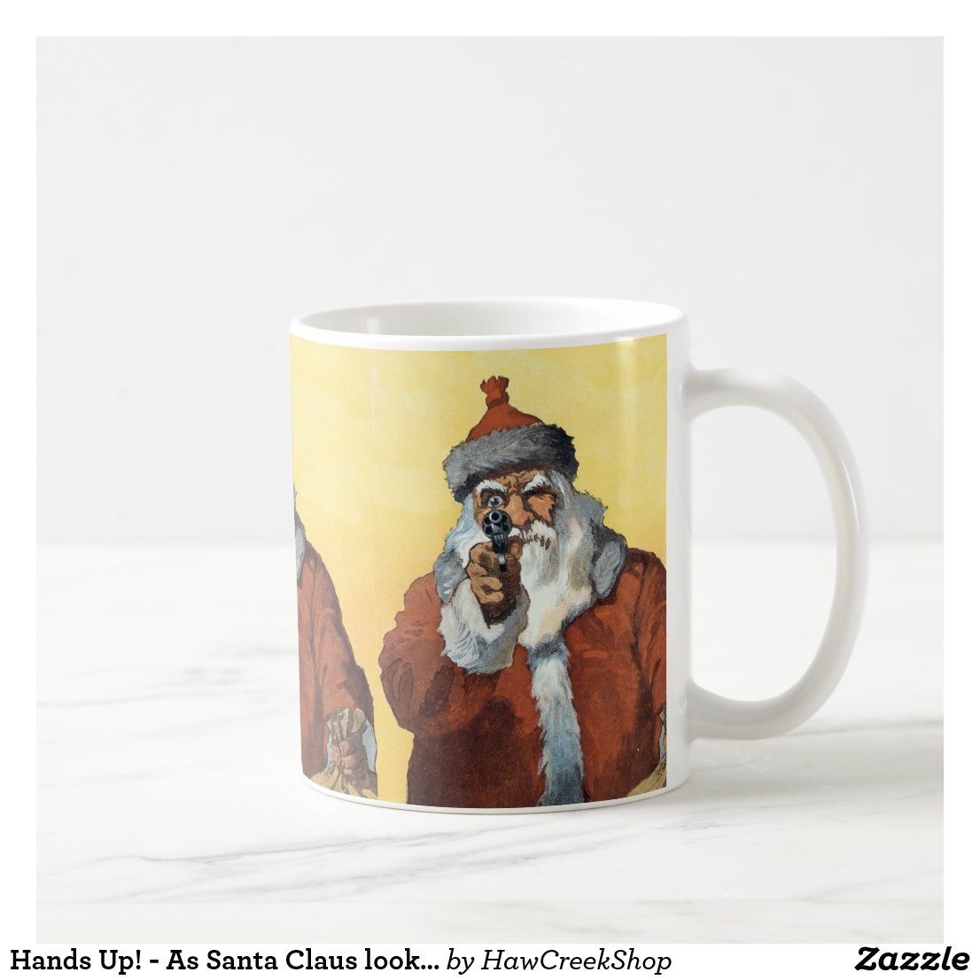 Hands Up! - As Santa Claus looks to some of us. Coffee Mug