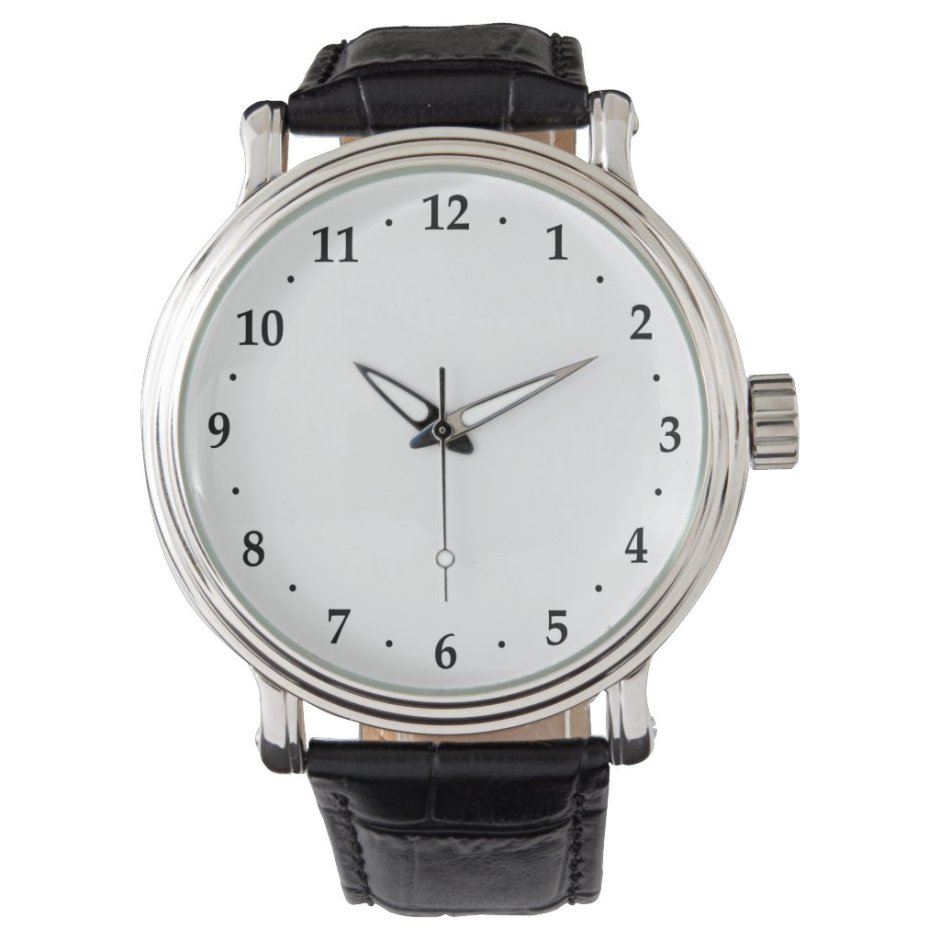 Handsome Numbers Dial Wristwatch