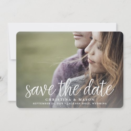 Handwritten   Double-Sided Photo Save the Date