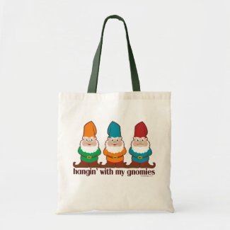Hangin' With My Gnomies Canvas Bags