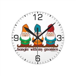 Hangin' With My Gnomies Clocks